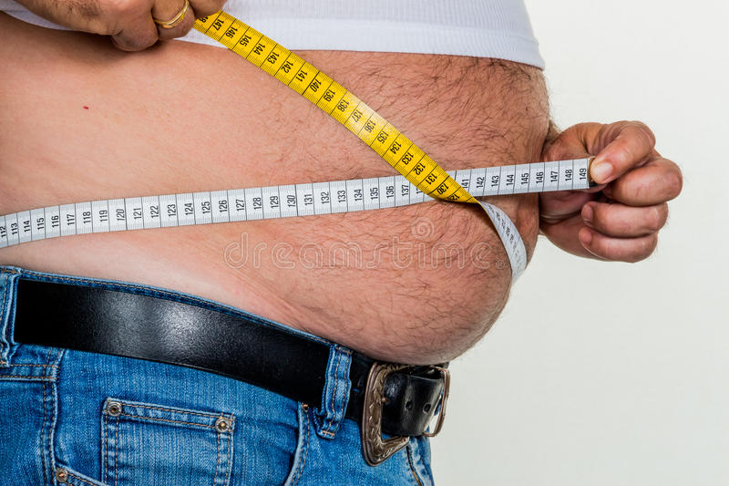 Homem com excesso de peso fotos de stock