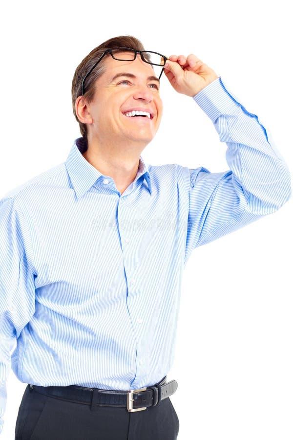 Homem com eyeglasses imagem de stock