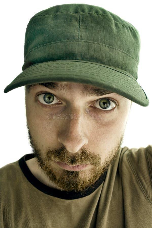 Homem com face engraçada fotografia de stock royalty free