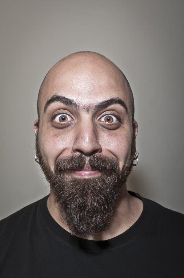 Homem com face estúpida imagens de stock royalty free