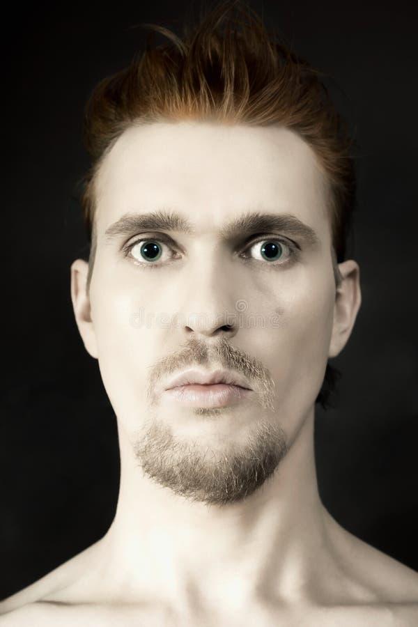 Homem com face surpreendida imagens de stock royalty free