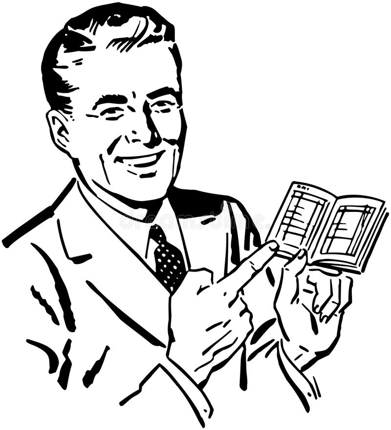 Homem com livro de depósito ilustração do vetor