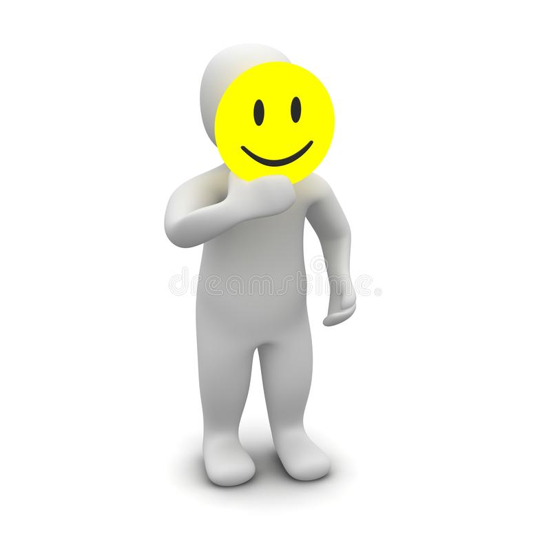 Homem com máscara do sorriso ilustração royalty free