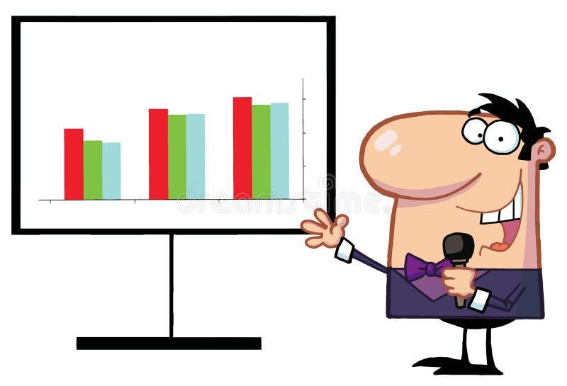 Homem com microfone ilustração do vetor
