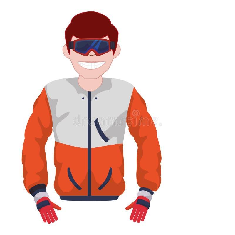Homem com o uniforme do esporte da neve ilustração stock