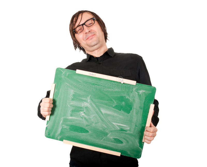 Homem com placa foto de stock royalty free