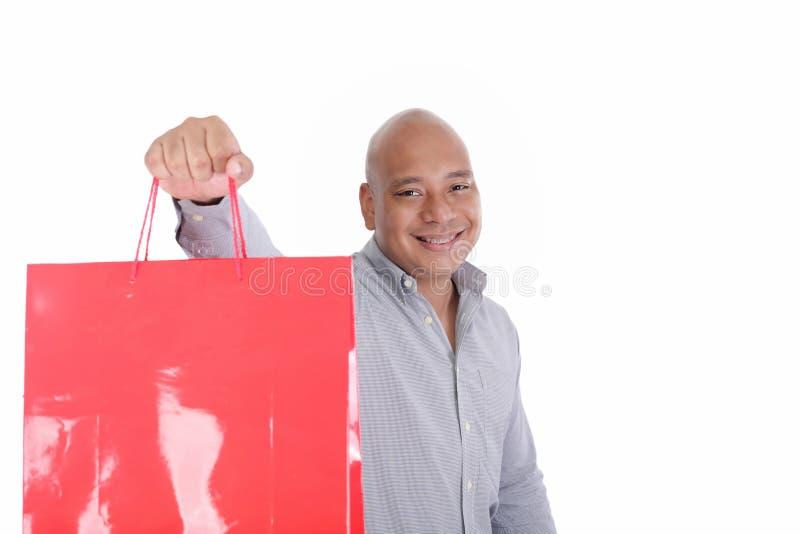 Homem com sacos de compras imagens de stock royalty free
