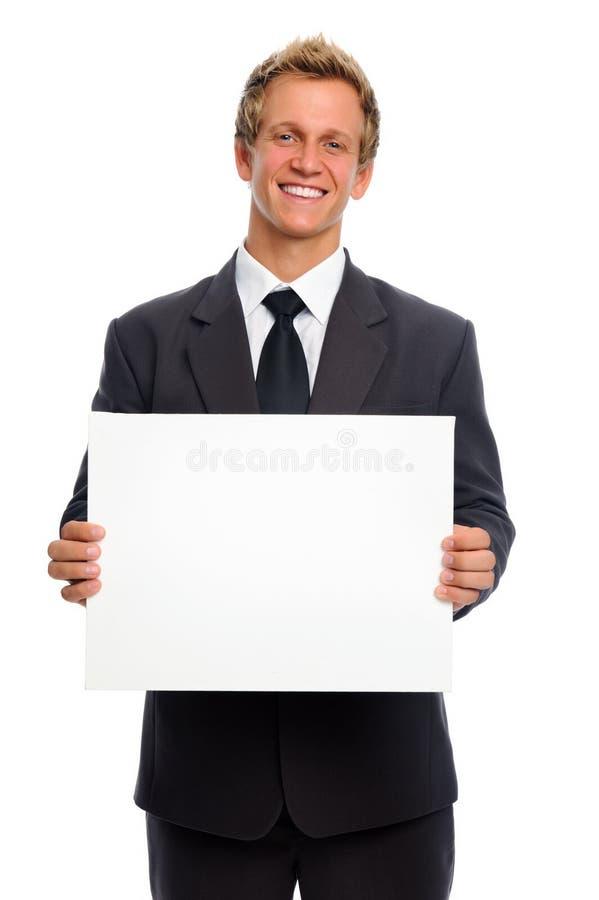 Homem com sinal foto de stock royalty free