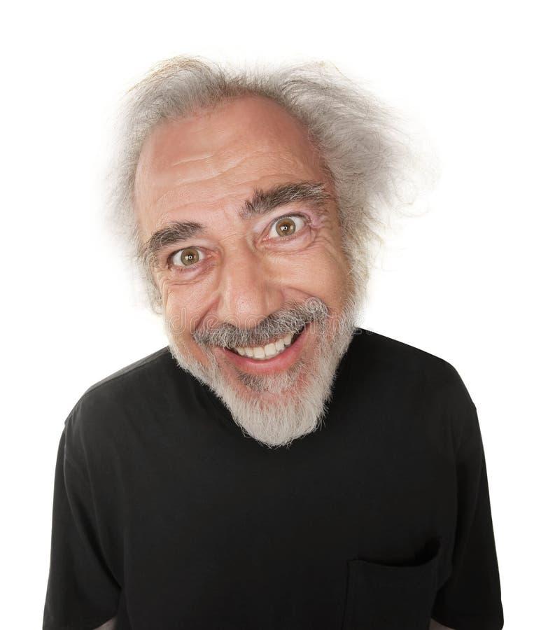 Homem com sorriso louco fotos de stock