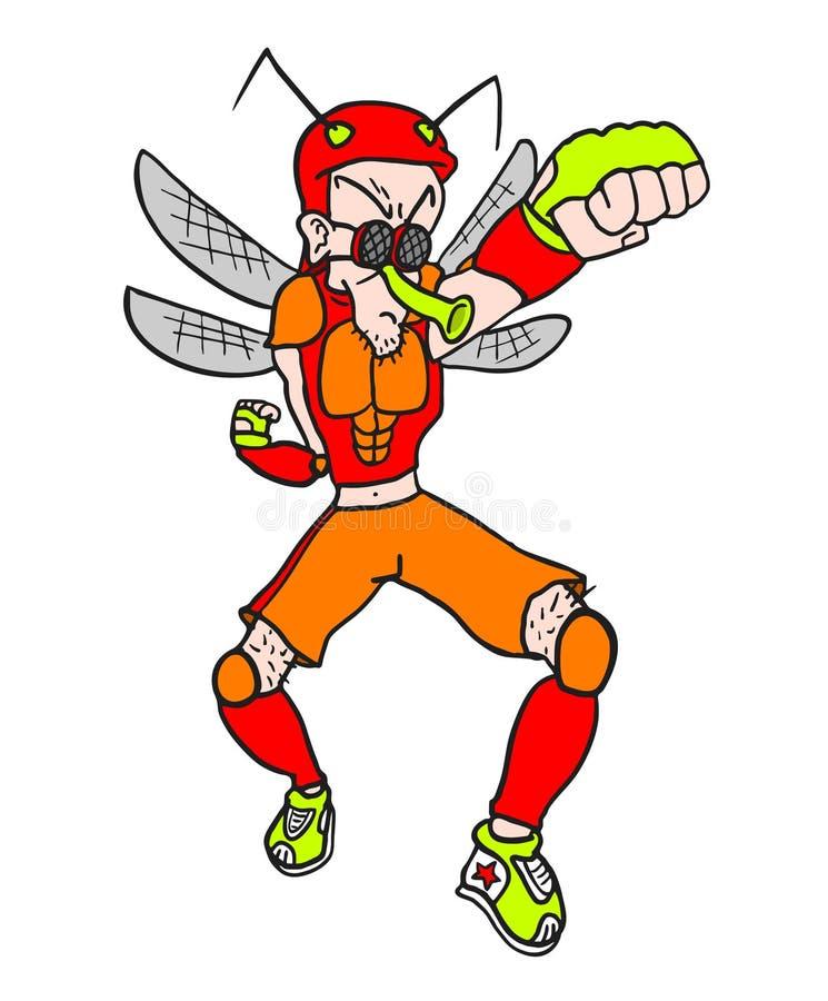 Download Homem Com Traje Do Mosquito Ilustração do Vetor - Ilustração de mão, ilustração: 80102217