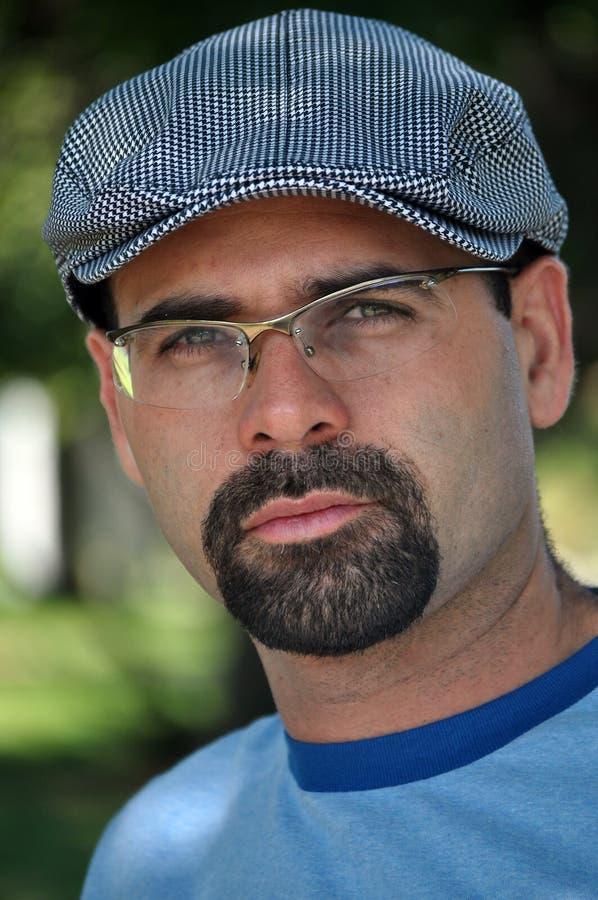 Homem com um chapéu imagens de stock