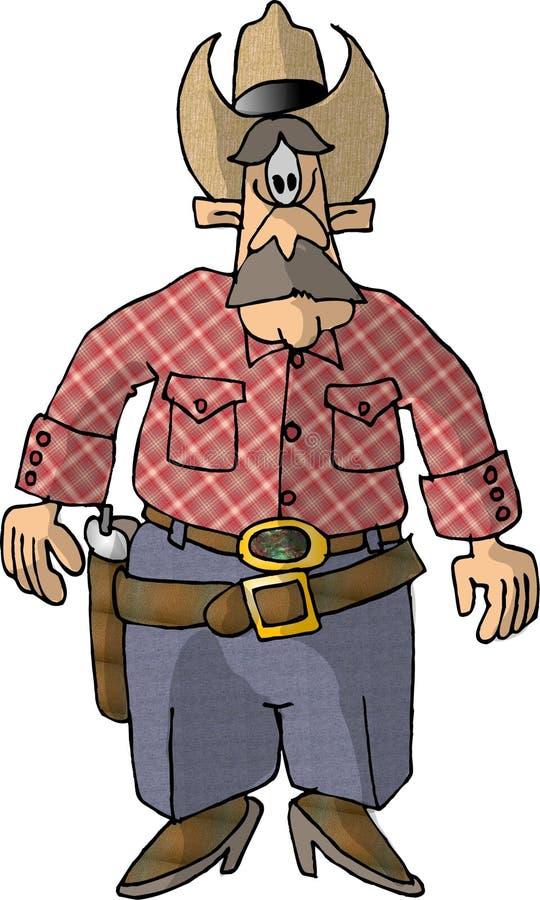 Homem com um injetor ilustração royalty free
