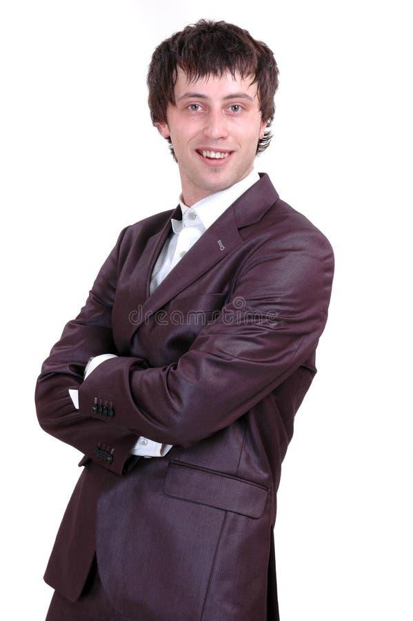 Homem com um sorriso foto de stock