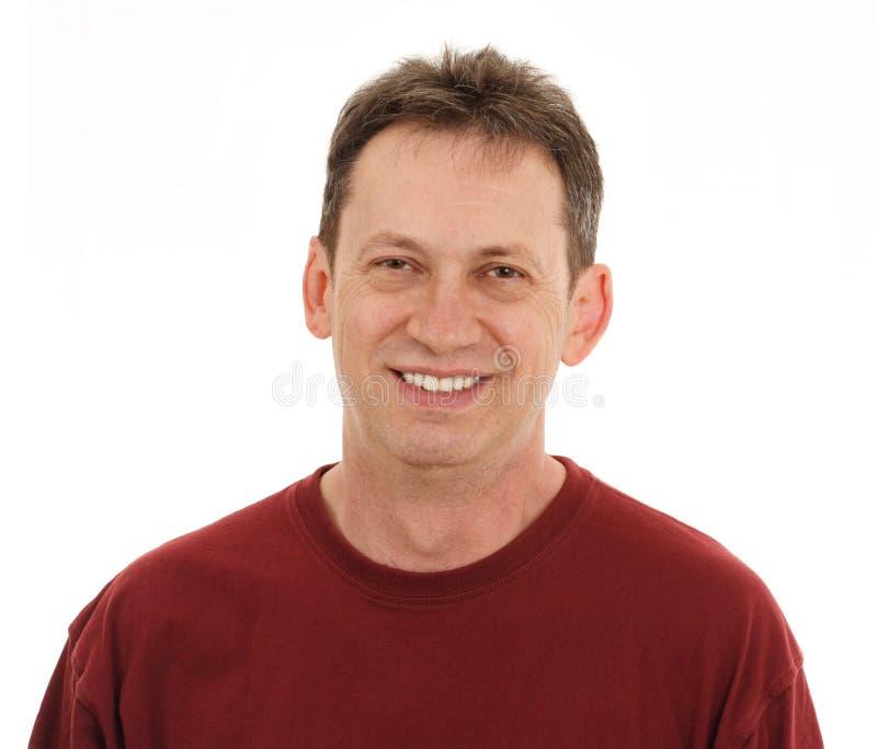 Homem com um sorriso fotografia de stock