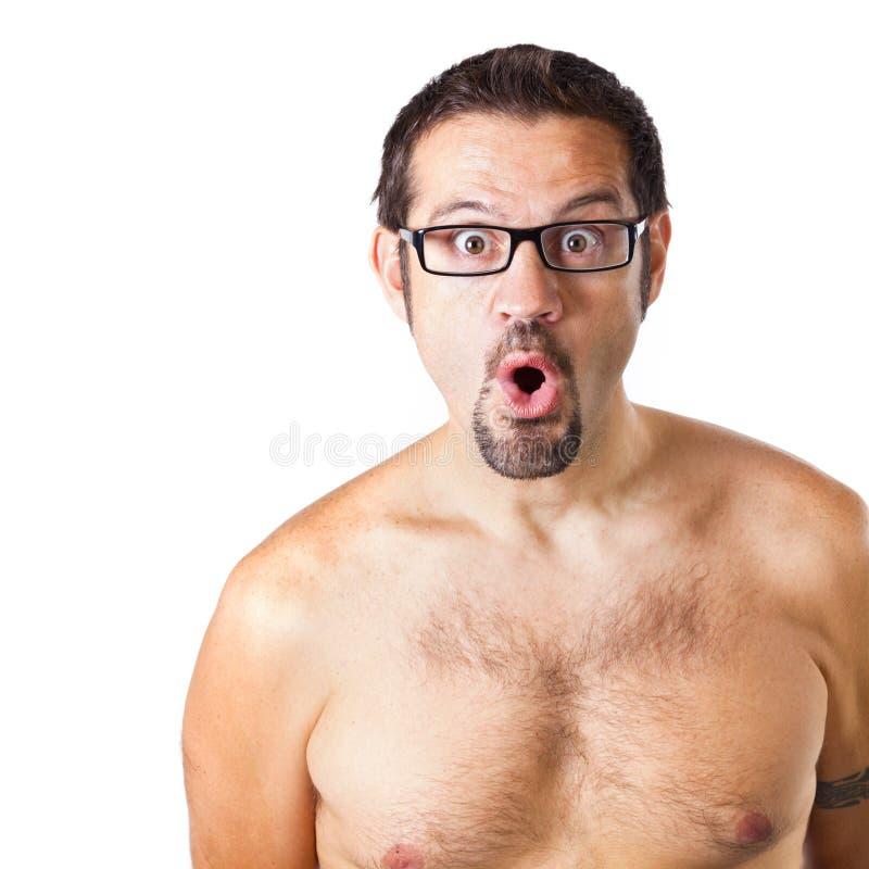 Download Homem Com Uma Expressão Da Surpresa Imagem de Stock - Imagem de ocasional, astonishment: 26500093