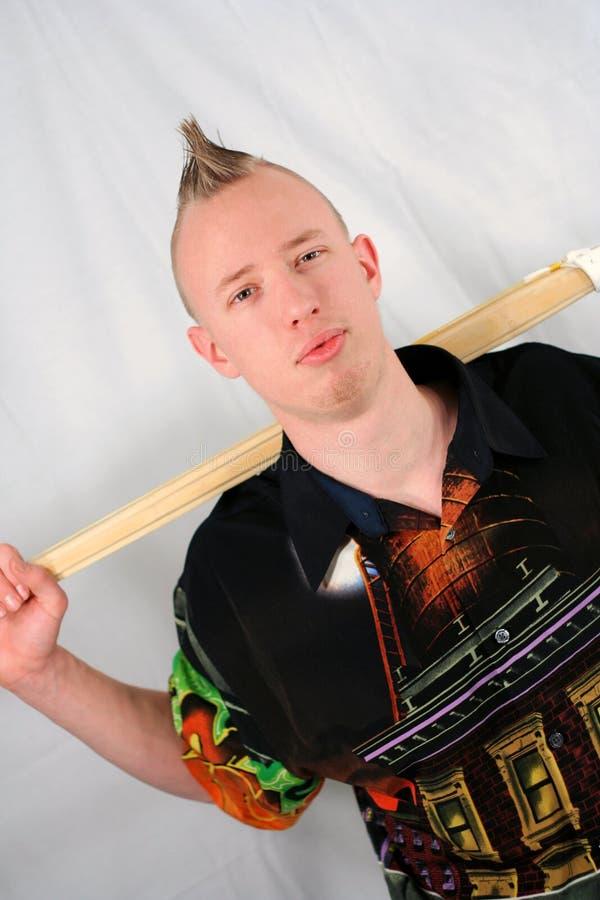 Homem com vara de Kendo imagem de stock