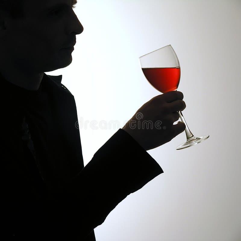 Homem com vidro de vinho foto de stock royalty free