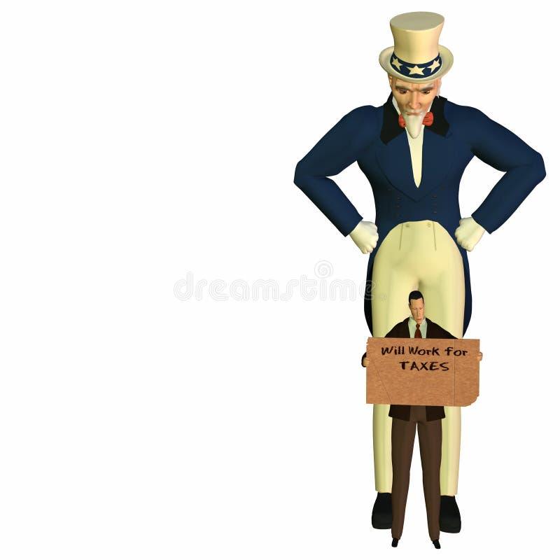 Homem Cometh 5 do imposto ilustração do vetor