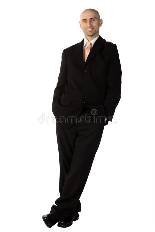 Homem confiável no terno imagem de stock