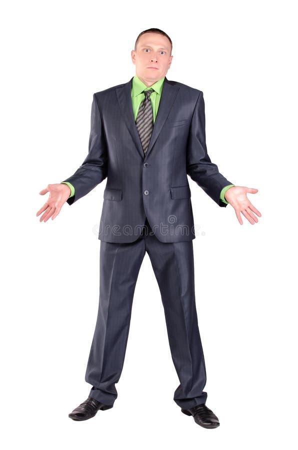 Homem confundido isolado fotografia de stock royalty free