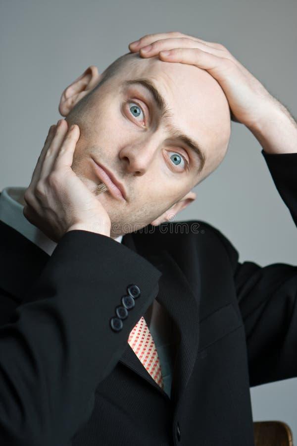 Homem confuso foto de stock royalty free