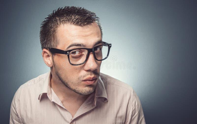 Homem confuso foto de stock