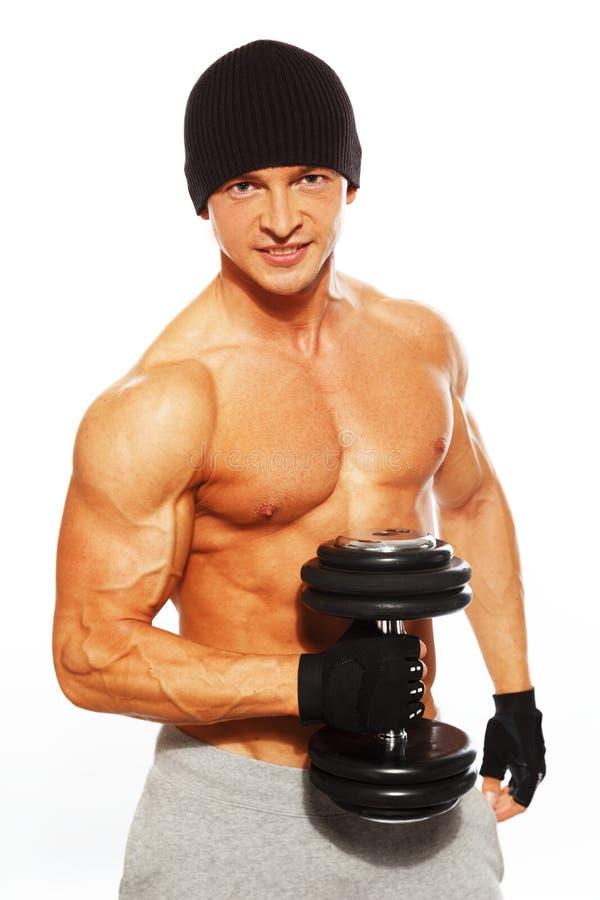 Homem considerável com corpo muscular imagens de stock royalty free