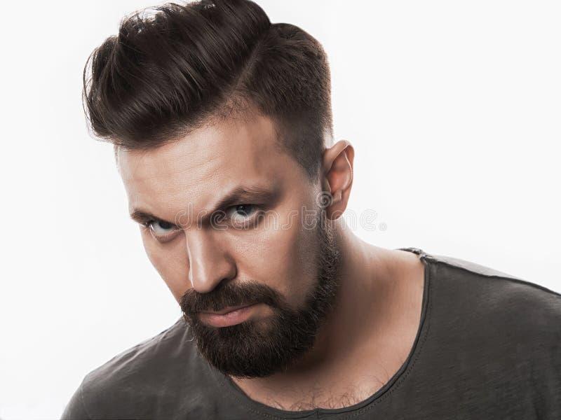 Homem considerável do moderno com barba fotografia de stock royalty free