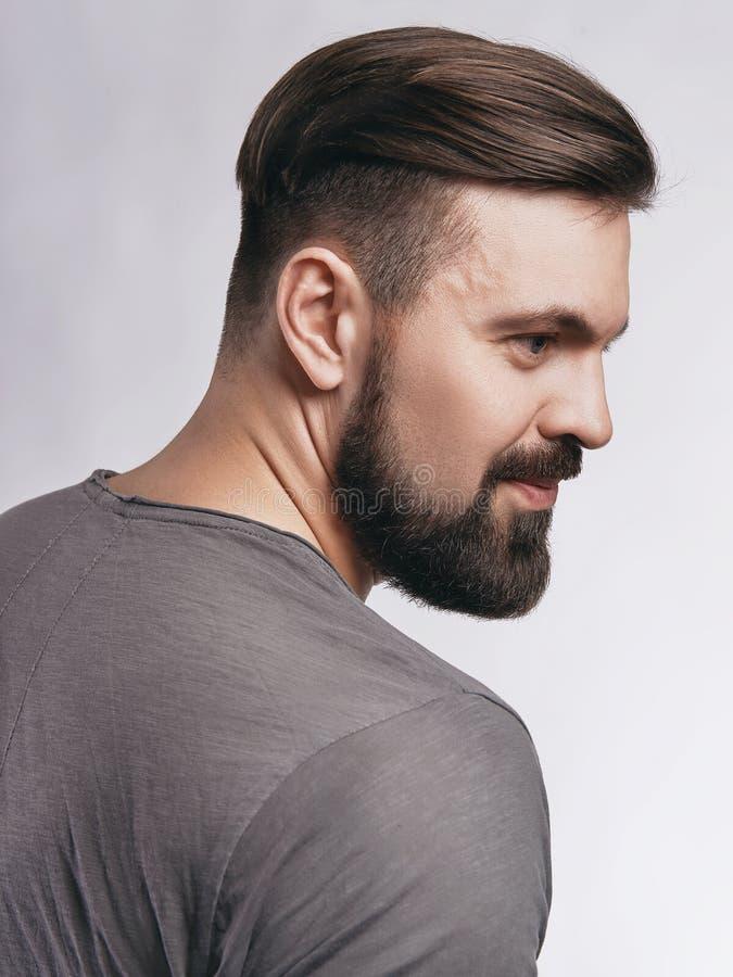 Homem considerável do moderno com barba imagem de stock royalty free