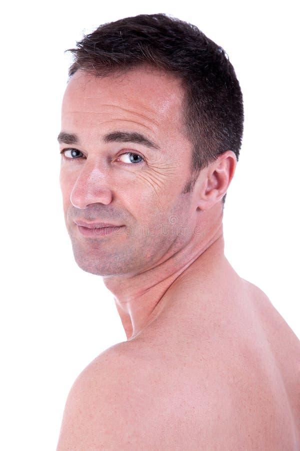 Homem considerável em em topless imagem de stock royalty free