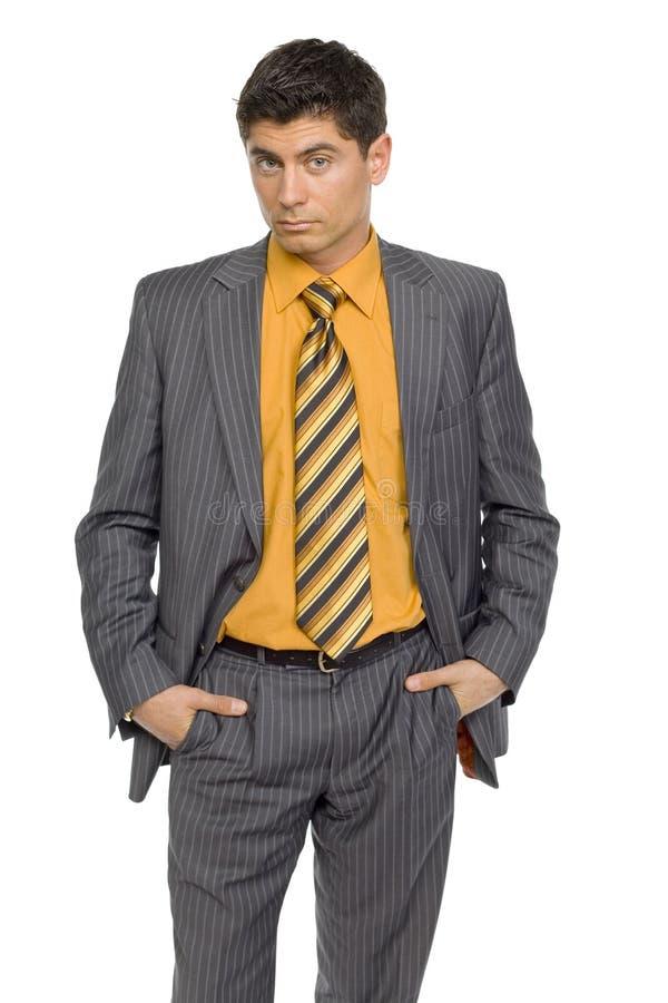 Homem considerável no terno imagem de stock