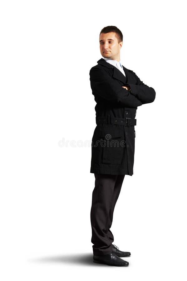 Homem considerável que olha para trás imagem de stock royalty free