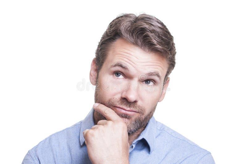 Homem contemplativo fotos de stock royalty free