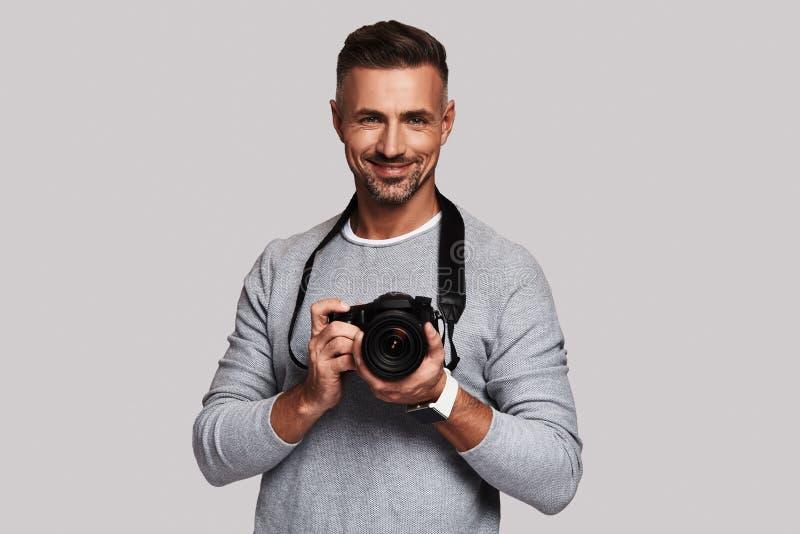 Homem creativo fotografia de stock