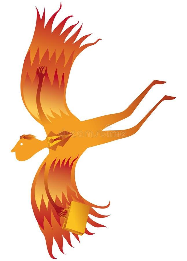 Homem da águia ilustração royalty free