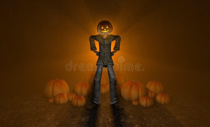 Homem Da Abóbora De Halloween Fotografia de Stock