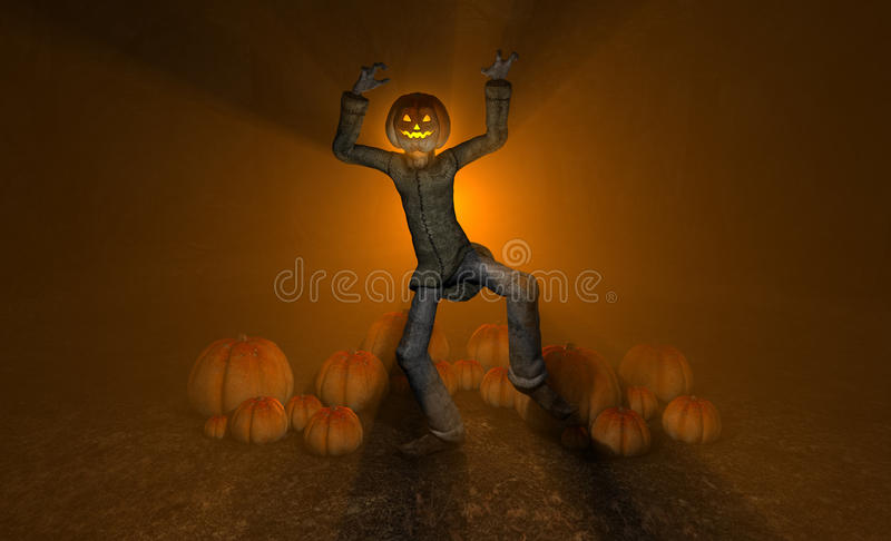 Homem Da Abóbora De Halloween Fotografia de Stock Royalty Free