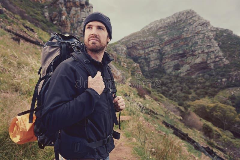 Homem da aventura foto de stock royalty free