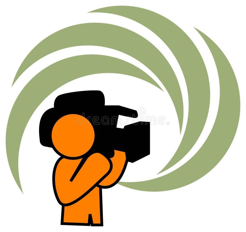 Homem da câmera ilustração stock