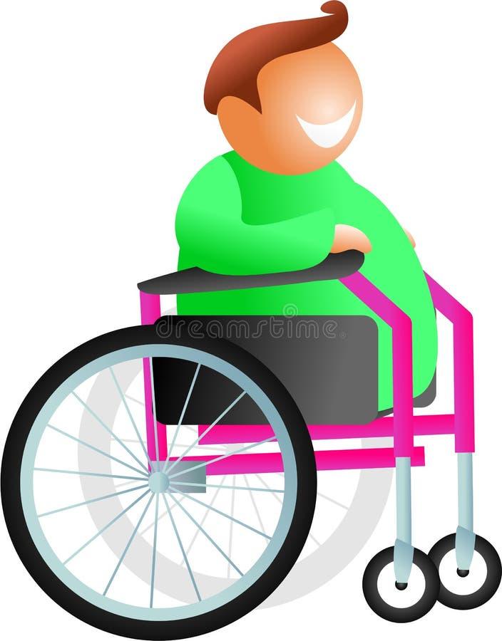 Homem da cadeira de rodas ilustração royalty free