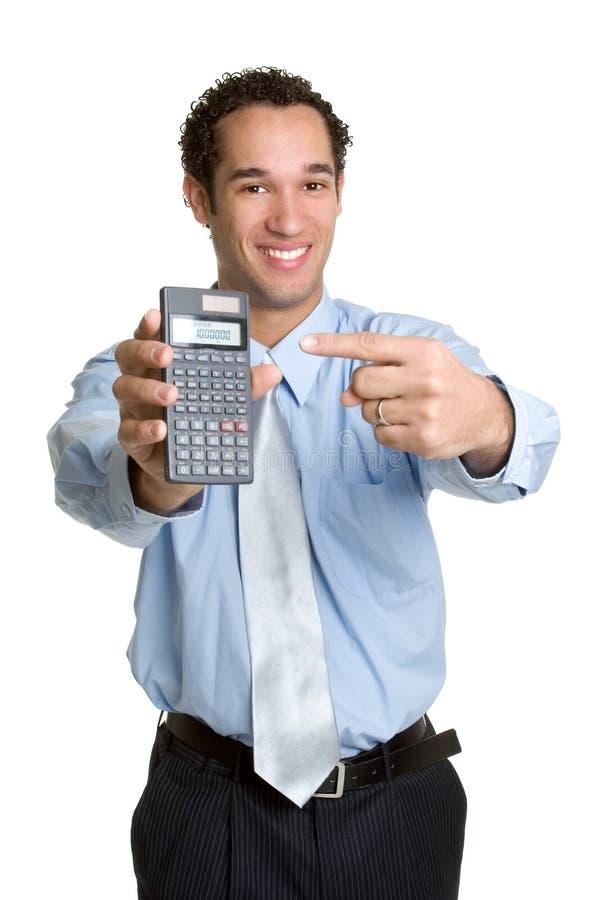 Homem da calculadora imagem de stock royalty free