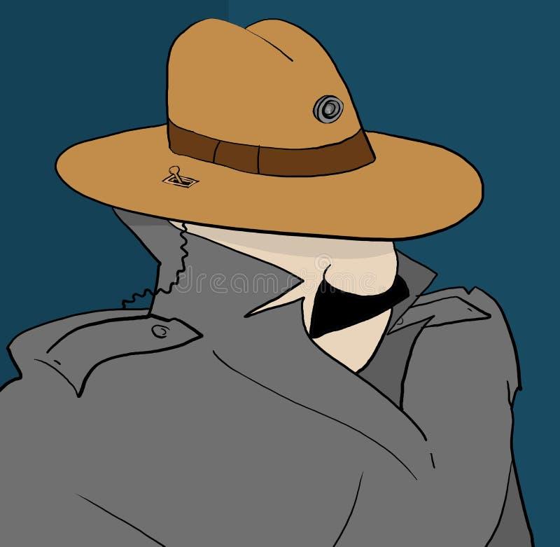 Homem da came do chapéu ilustração royalty free