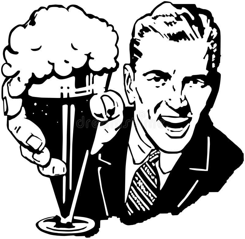 Homem da cerveja ilustração royalty free