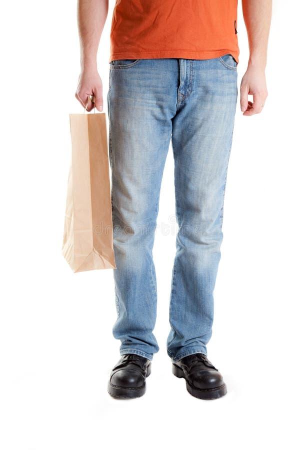 Homem da compra fotografia de stock