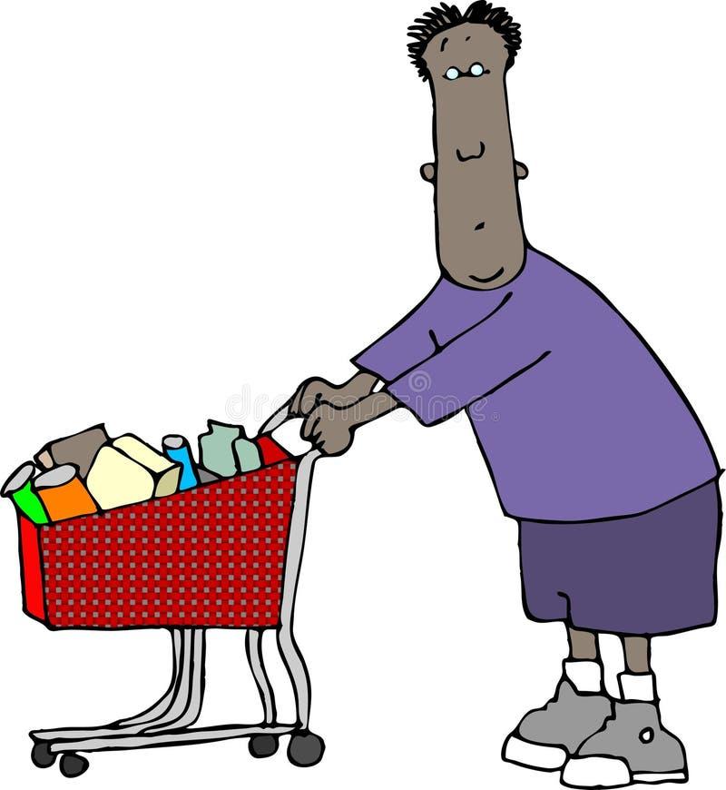 Homem da compra ilustração royalty free