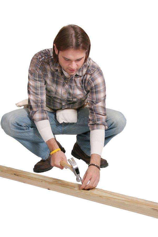 Homem da construção fotos de stock royalty free