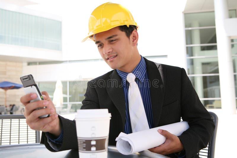 Homem da construção do negócio imagens de stock