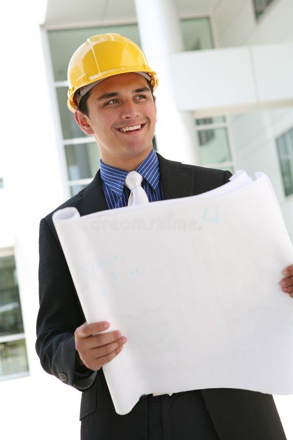 Homem da construção do negócio fotografia de stock