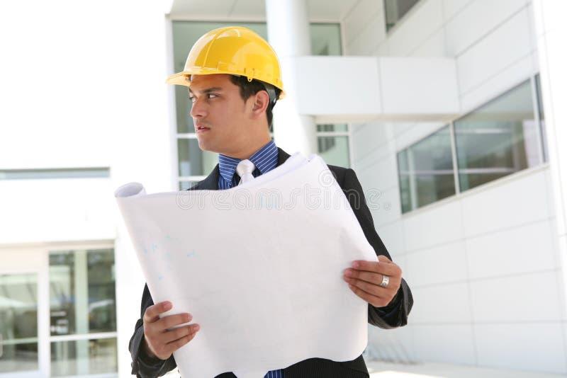 Homem da construção do negócio imagem de stock