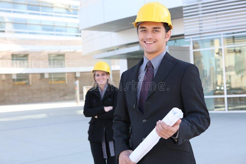 Homem da construção do negócio foto de stock